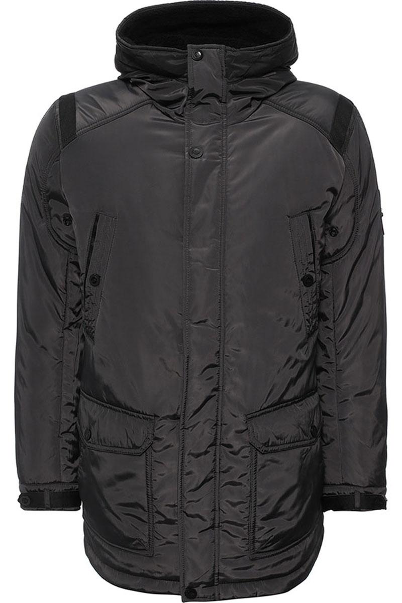 W16-22011_101Стильная мужская куртка Finn Flare превосходно подойдет для холодной погоды. Куртка выполнена из высококачественного материала с подкладкой и наполнителем из полиэстера. Модель прямого кроя, немного удлинённая, с длинными рукавами и несъемным капюшоном застегивается на молнию и дополнительно имеет планку на кнопках. Капюшон утеплен, его края можно отогнуть и пристегнуть на кнопку. Спереди изделие дополнено двумя втачными карманами на кнопках и двумя накладными карманами с клапанами на кнопках. На внутренней стороне куртка оформлена одним прорезным карманом на молнии и двумя втачными карманами на пуговице и на липучке. В поясе и по низу модель регулируется в размере с помощью стопперов.