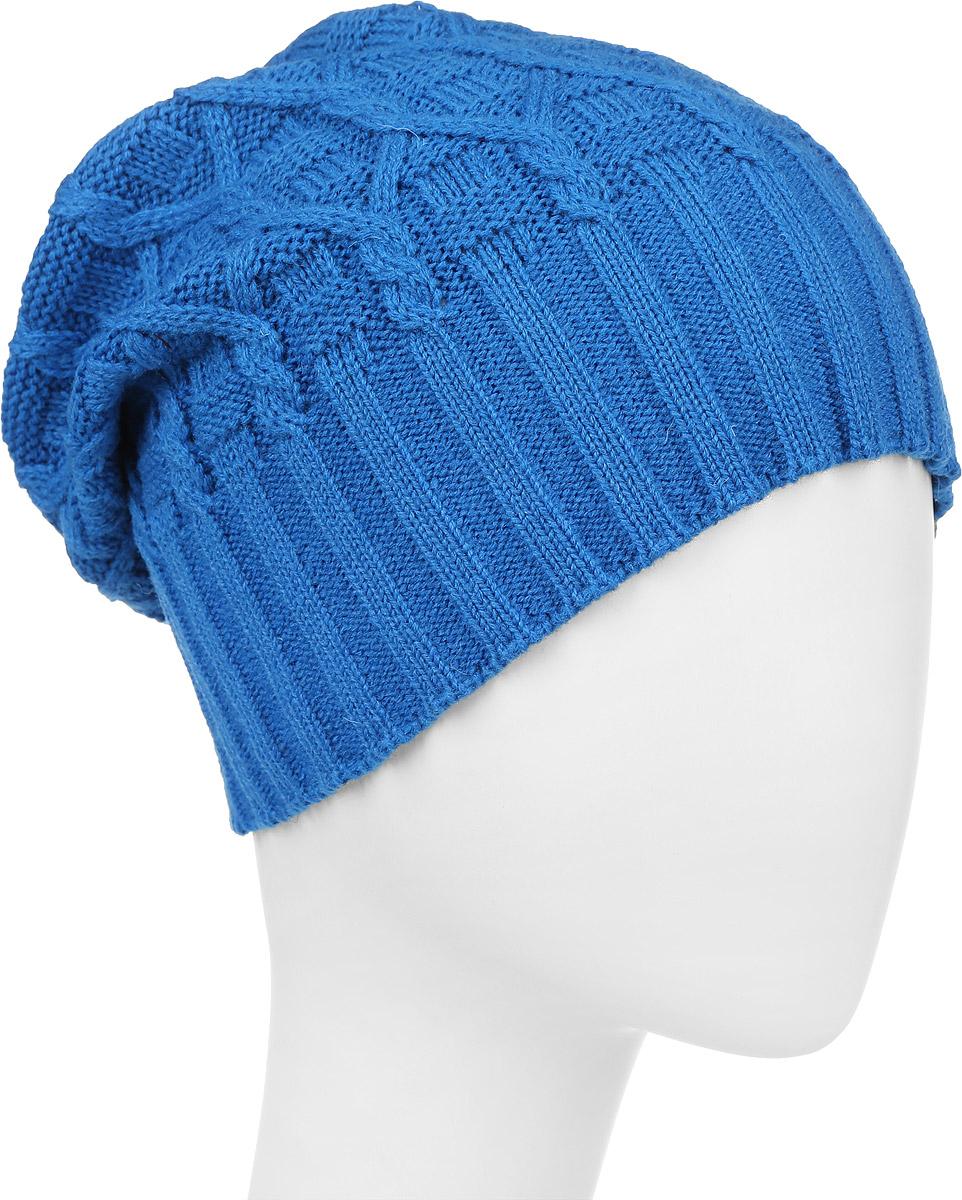 ШапкаIP301045Вязаная женская шапка Vittorio Richi выполнена из шерсти с добавлением акрила. Модель оформлена вязаным узором и украшена небольшой металлической пластиной. Уважаемые клиенты! Размер, доступный для заказа, является обхватом головы.