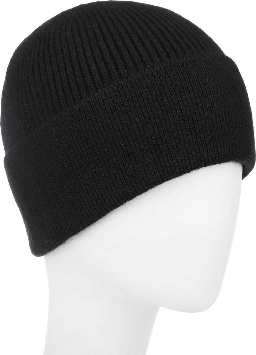 ШапкаF2251863B-18Вязаная мужская шапка Vittorio Richi выполнена из шерсти с добавлением акрила. Модель дополнена отворотом. Уважаемые клиенты! Размер, доступный для заказа, является обхватом головы.