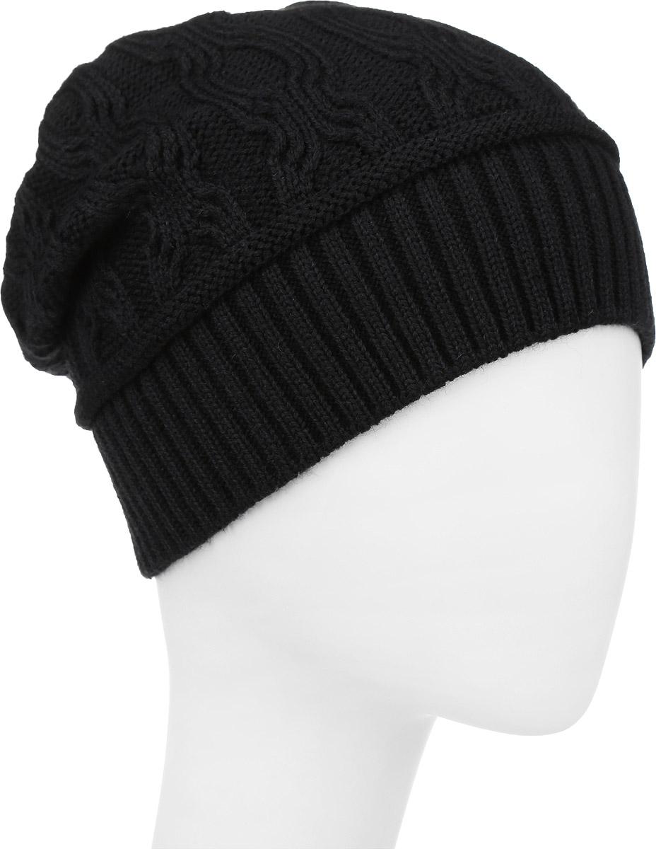 ШапкаIP900142Вязаная женская шапка Vittorio Richi выполнена из шерсти с добавлением акрила. Модель оформлена вязаным узором и украшена небольшой металлической пластиной в форме сердца. Уважаемые клиенты! Размер, доступный для заказа, является обхватом головы.