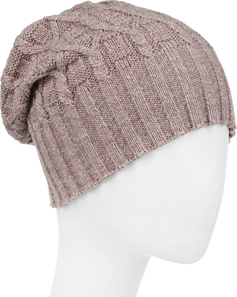 ШапкаIP301004Вязаная женская шапка Vittorio Richi выполнена из шерсти с добавлением акрила. Модель оформлена вязаным узором и украшена небольшой металлической пластиной. Уважаемые клиенты! Размер, доступный для заказа, является обхватом головы.