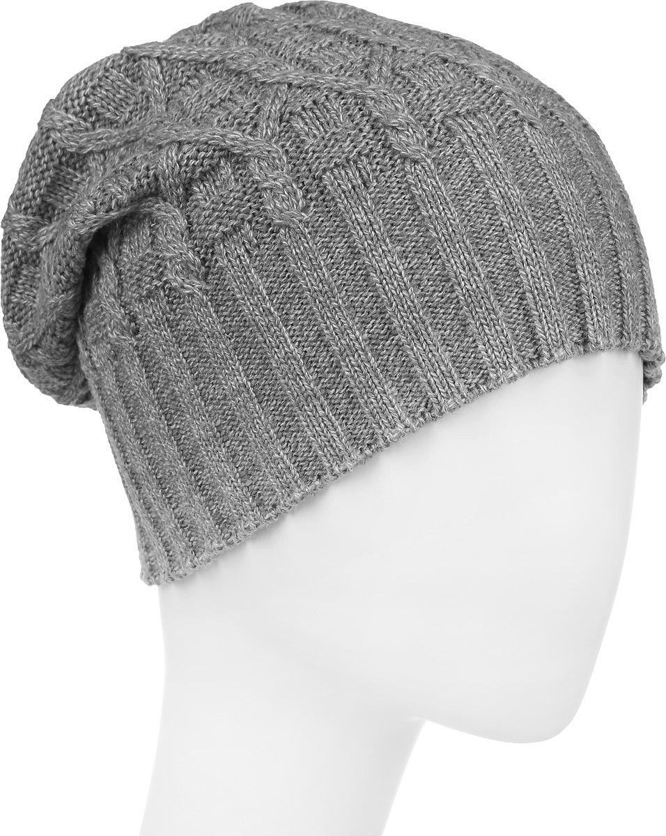 ШапкаIP301002Вязаная женская шапка Vittorio Richi выполнена из шерсти с добавлением акрила. Модель оформлена вязаным узором и украшена небольшой металлической пластиной. Уважаемые клиенты! Размер, доступный для заказа, является обхватом головы.