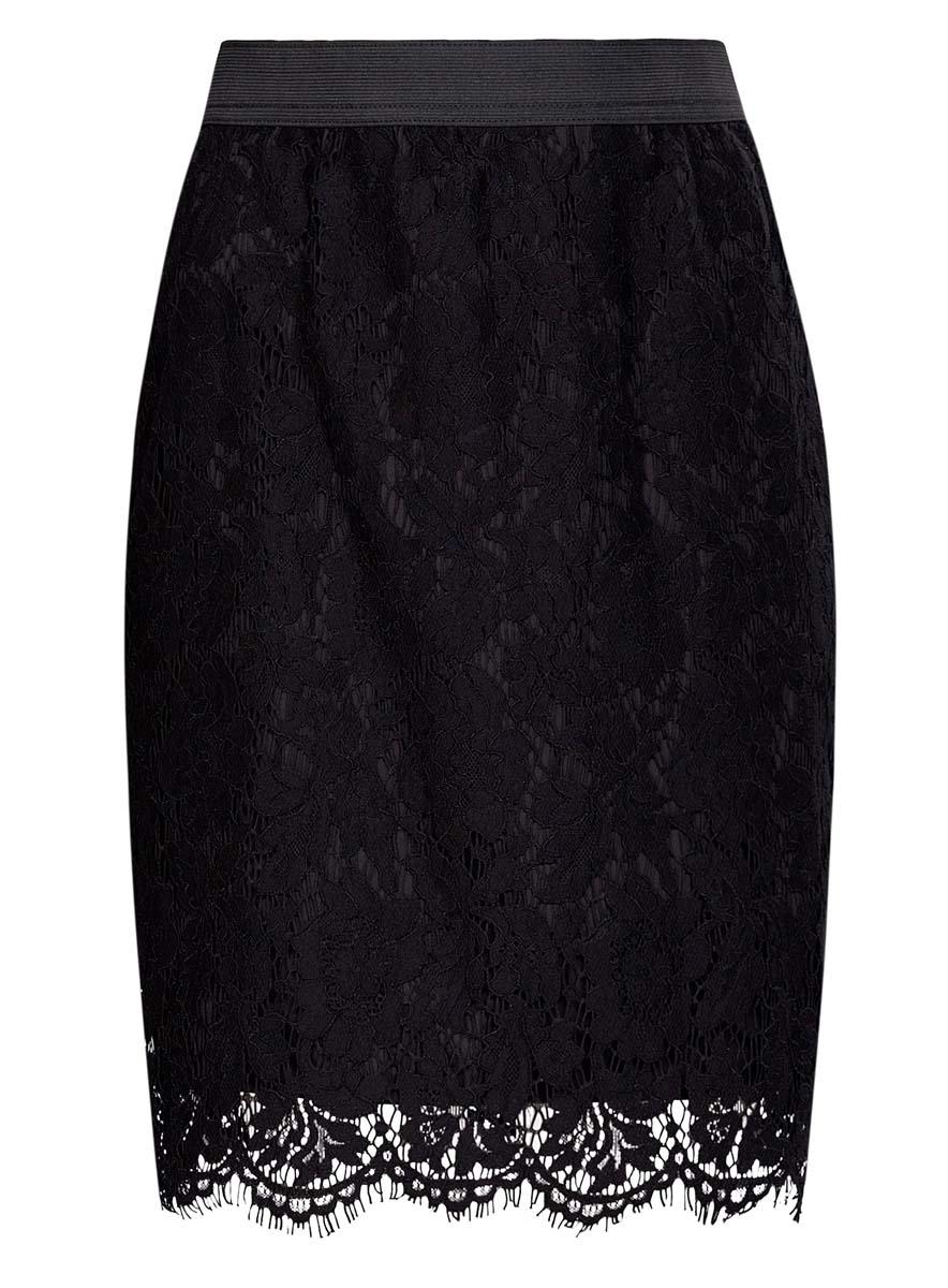 Юбка21602087/46131/2900NКружевная юбка oodji Collection выполнена из хлопка с добавлением полиамида и вискозы, подкладка - из полиэстера. Модель длины миди. Сзади изделие дополнено потайной застежкой-молнией и шлицей.