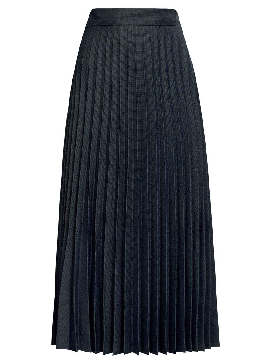 Юбка21606020/45879/2975GПлиссированная юбка oodji Collection выполнена из полиэстера с добавлением вискозы и полиуретана. Модель длины миди сбоку дополнена потайной застежкой-молнией и оформлена мелким принтом.
