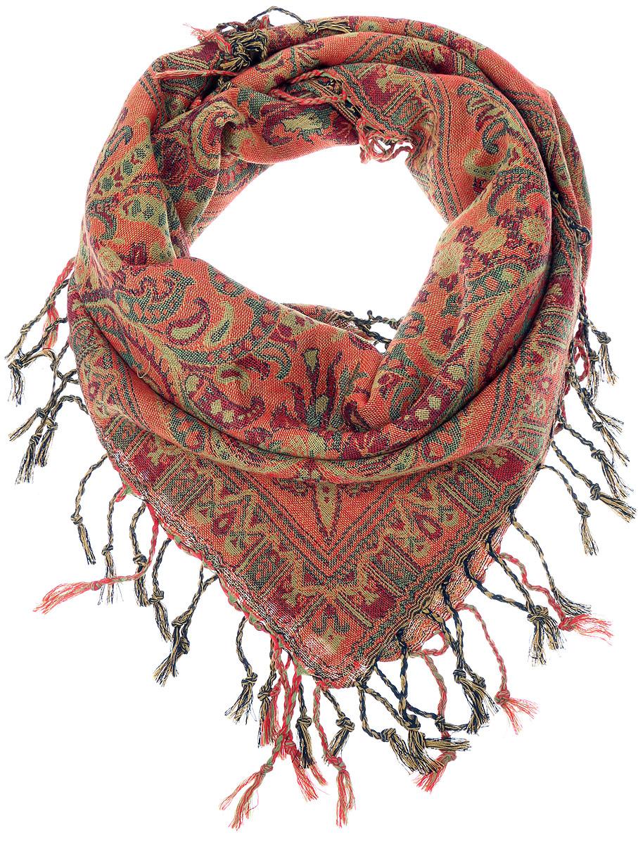 ПлатокF519-11Стильный женский платок Vittorio Richi станет великолепным завершением любого наряда. Платок изготовлен из шерсти и акрила. Изделие оформлено оригинальным орнаментом и дополнено бахромой по краям. Классическая квадратная форма позволяет носить платок на шее, украшать им прическу или декорировать сумочку. Такой платок превосходно дополнит любой наряд и подчеркнет ваш неповторимый вкус и элегантность.