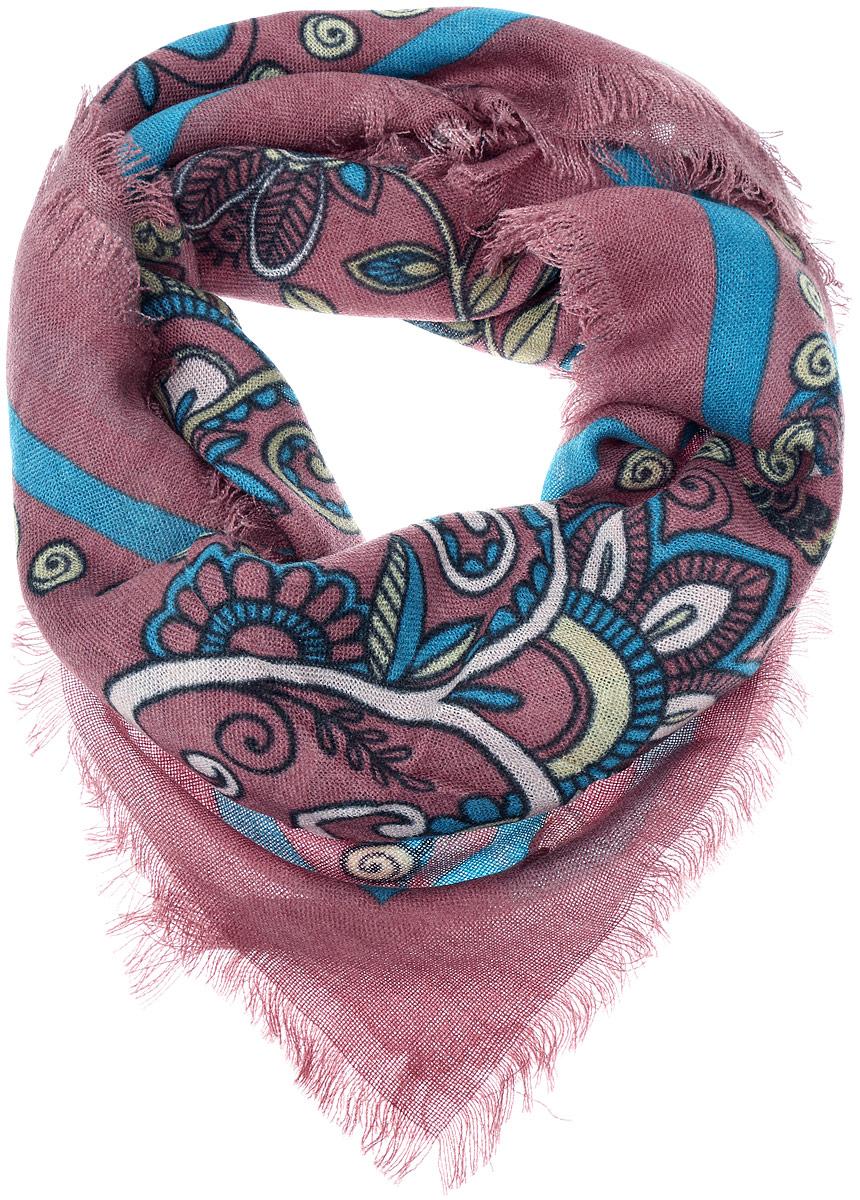 ПлатокSH1502-R17-1Теплый женский платок Vittorio Richi изготовлен из сочетания теплой шерсти и высококачественного акрила. Платок оформлен цветочным дизайном и дополнен по краям стильной бахромой.