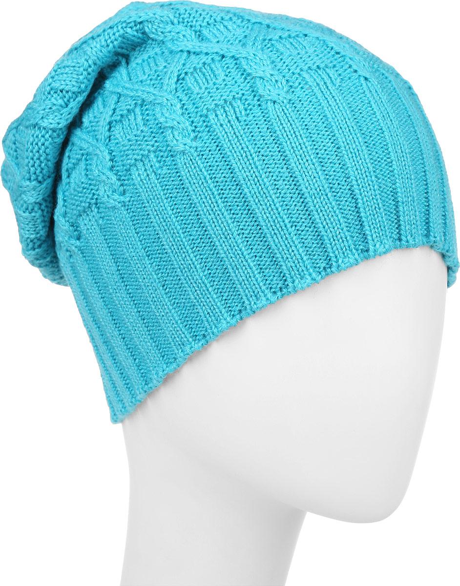 ШапкаIP301082Вязаная женская шапка Vittorio Richi выполнена из шерсти с добавлением акрила. Модель оформлена вязаным узором и украшена небольшой металлической пластиной. Уважаемые клиенты! Размер, доступный для заказа, является обхватом головы.