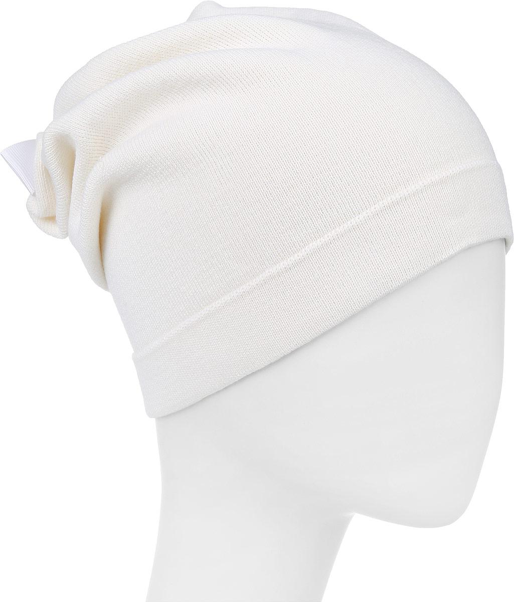 ШапкаF2241335C-11Теплая шапка Vittorio Richi выполнена из шерсти и акрила. Модель без подкладки оформлена присборкой. По низу изделие дополнено подворотом и декорирвоано аппликацией из страз. Уважаемые клиенты! Размер, доступный для заказа, является обхватом головы.