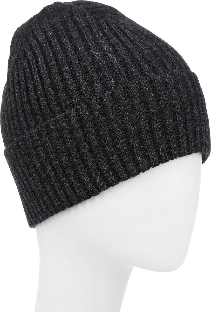 ШапкаF226110C-33Вязаная мужская шапка Vittorio Richi выполнена из шерсти с добавлением акрила. Модель дополнена отворотом. Уважаемые клиенты! Размер, доступный для заказа, является обхватом головы.
