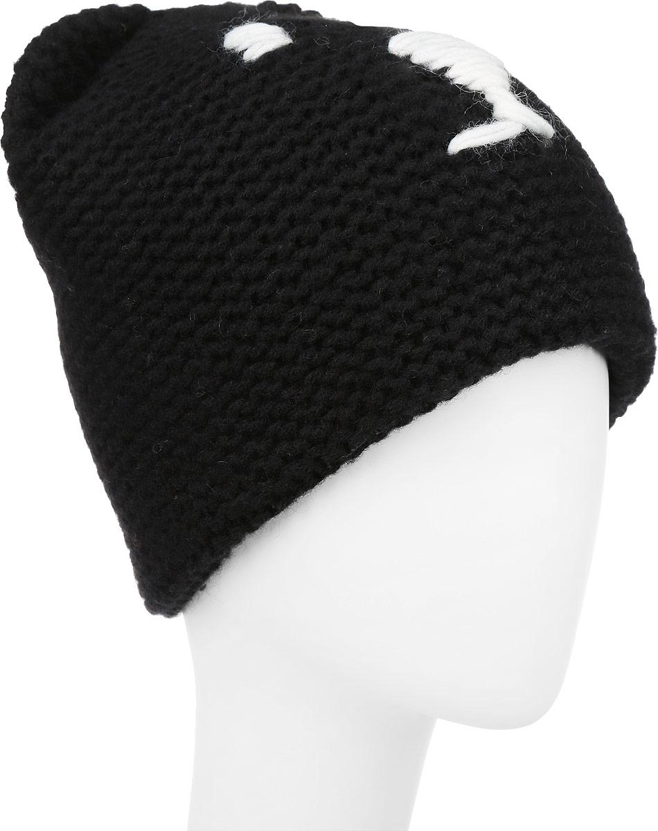 ШапкаF2241901F-18Вязаная женская шапка Vittorio Richi выполнена из шерсти с добавлением акрила. Модель оформлена вязаной нашивкой в виде мордочки и дополнена ушками. Уважаемые клиенты! Размер, доступный для заказа, является обхватом головы.