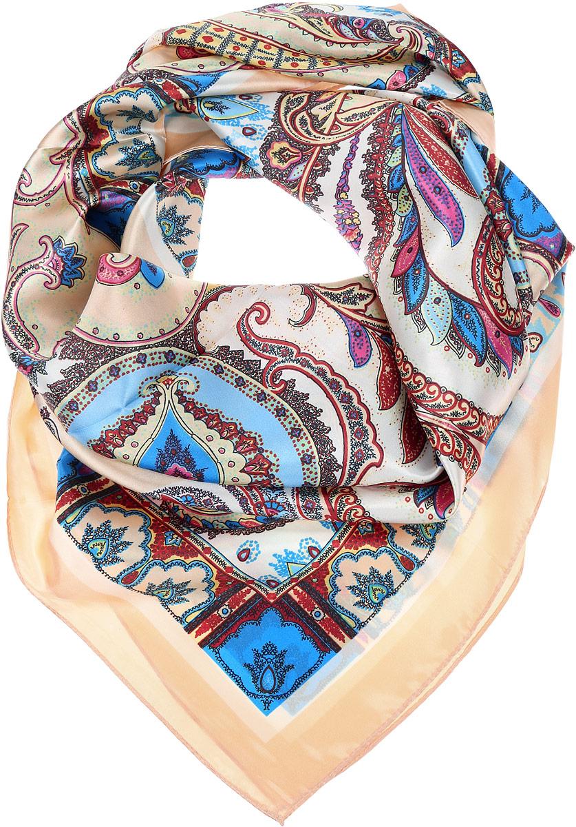 ПлатокHS1602-4-1Стильный женский платок Vittorio Richi станет великолепным завершением любого наряда. Платок изготовлен из полиэстера с добавлением шелка. Изделие оформлено оригинальным орнаментом. Классическая квадратная форма позволяет носить платок на шее, украшать им прическу или декорировать сумочку. Такой платок превосходно дополнит любой наряд и подчеркнет ваш неповторимый вкус и элегантность.