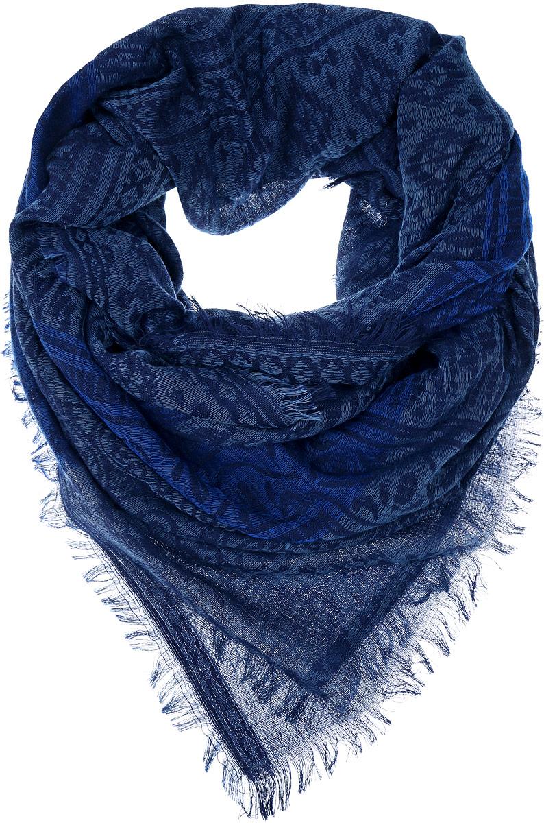FC775-7Стильный женский платок Vittorio Richi изготовлен из сочетания высококачественных материалов. Жаккардовый платок оформлен принтом с узорами и дополнен по краям небольшой бахромой.