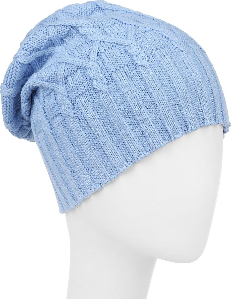 ШапкаIP301042Вязаная женская шапка Vittorio Richi выполнена из шерсти с добавлением акрила. Модель оформлена вязаным узором и украшена небольшой металлической пластиной. Уважаемые клиенты! Размер, доступный для заказа, является обхватом головы.