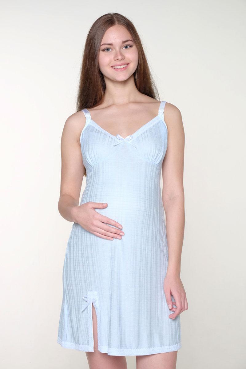 1-НМП 19606Замечательная сорочка для кормящих мам. Модель на регулируемых бретельках с застежкой-клипсой для кормления. Изделие украшено кружевом.