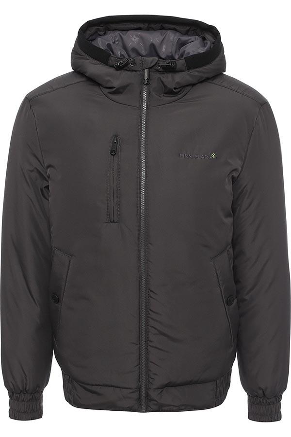 КурткаW16-42001_202Стильная мужская куртка Finn Flare превосходно подойдет для прохладных дней. Куртка выполнена из высококачественного материала с подкладкой и утеплителем из полиэстера. Модель с длинными рукавами и несъемным капюшоном застегивается на застежку-молнию. Капюшон на стопперах, а макушка дополнена утягивающим хлястиком. Спереди изделие дополнено двумя втачными карманами с клапанами на кнопках и одним прорезным на молнии. На внутренней стороне куртка оформлена одним прорезным карманом на молнии и двумя втачными карманами на липучке и пуговице. Манжеты и низ изделия выполнены из эластичной резинки. Оформлена модель на груди вышивкой с названием бренда.