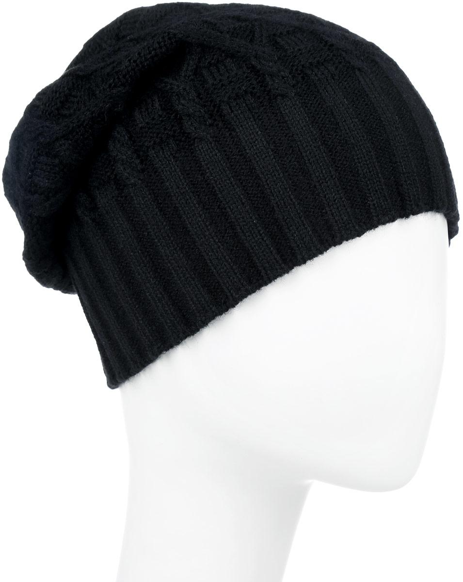 ШапкаIP301001Вязаная женская шапка Vittorio Richi выполнена из шерсти с добавлением акрила. Модель оформлена вязаным узором и украшена небольшой металлической пластиной в виде бабочки. Уважаемые клиенты! Размер, доступный для заказа, является обхватом головы.