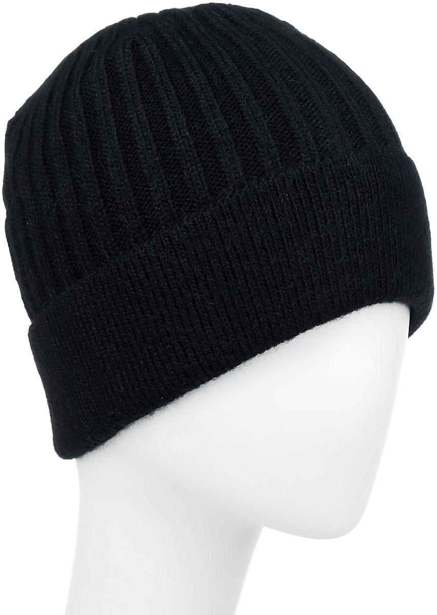 F2251862V-18Вязаная мужская шапка Vittorio Richi выполнена из мохера с добавлением акрила, шерсти и полиэстера. Модель с отворотом оформлена вязаным узором. Уважаемые клиенты! Размер, доступный для заказа, является обхватом головы.
