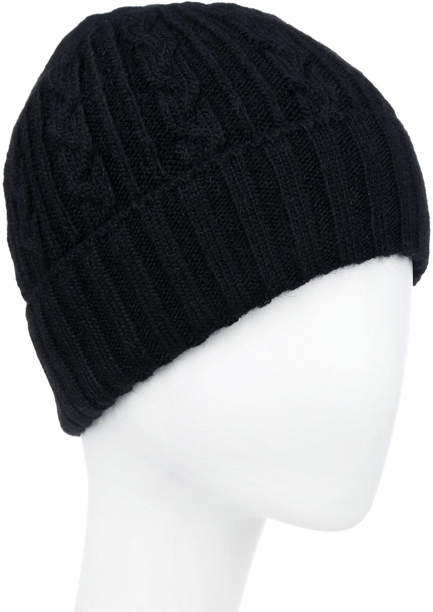 ШапкаF2251850V-18Вязаная мужская шапка Vittorio Richi выполнена из мохера с добавлением шерсти, акрила и полиэстера. Модель с отворотом оформлена вязаным узором. Уважаемые клиенты! Размер, доступный для заказа, является обхватом головы.