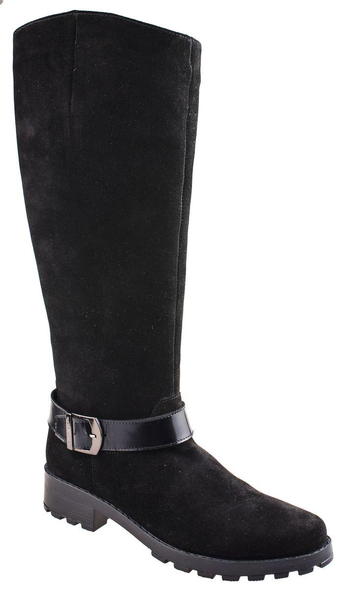 Сапоги2-217931602Стильные женские сапоги от Riconte выполнены из натурального велюра. Подкладка и стелька из текстиля и шерсти не дадут ногам замерзнуть. Застегивается модель на боковую застежку-молнию. Подъем изделия оформлен декоративным ремешком с пряжкой. Подошва и невысокий каблук дополнены рифлением.