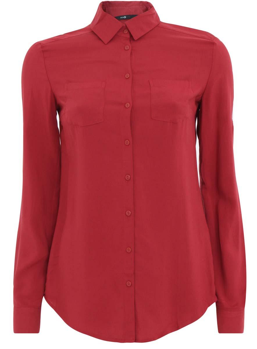 Блузка11400355-3/26346/3100NЖенская блузка oodji Ultra исполнена из легкой ткани и имеет классический крой. Блузка имеет длинные рукава, классический воротничок, застегивается спереди и на манжетах на пуговицы. Изделие плотно садится по фигуре.