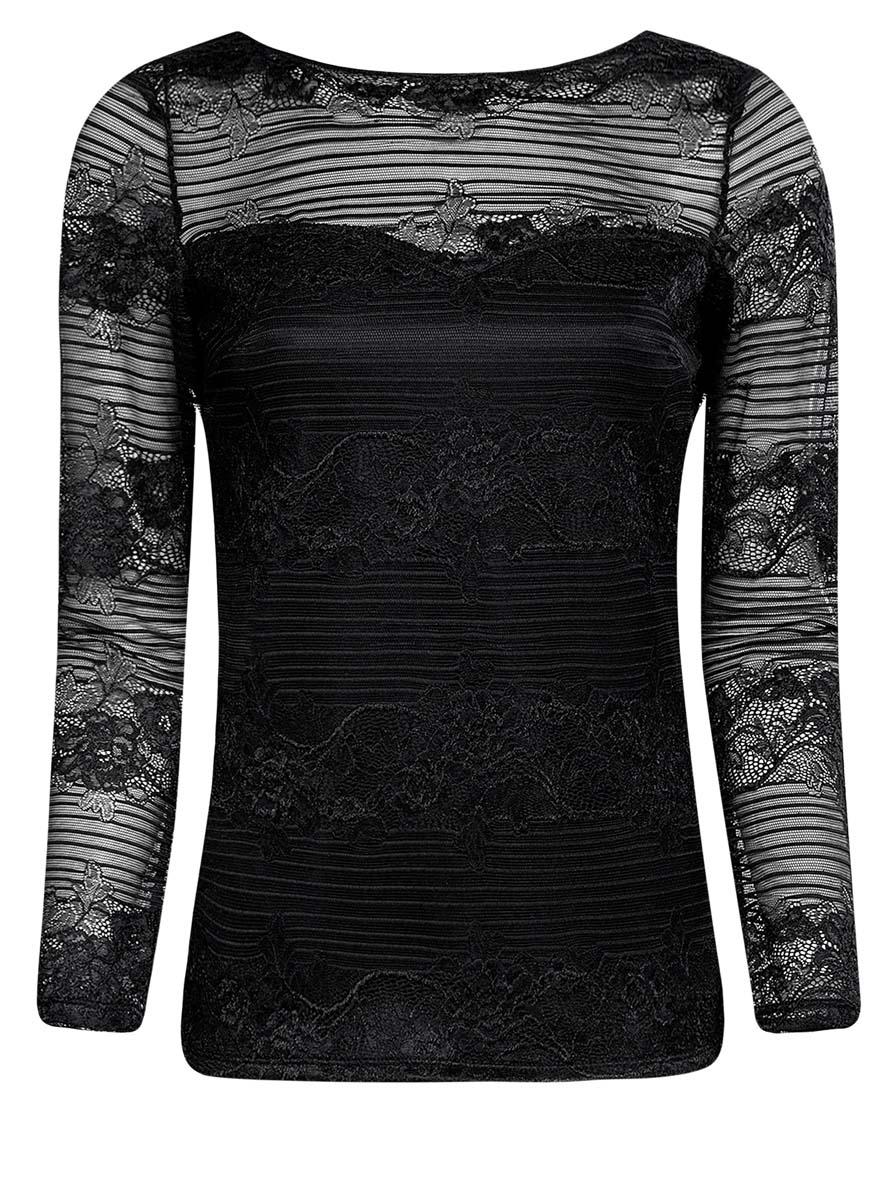 14211004/46234/2900NСтильная женская блузка oodji Ultra выполнена из полиамида с добавлением полиуретана. Модель с круглым вырезом горловины и длинными рукавами оформлена оригинальным принтом.