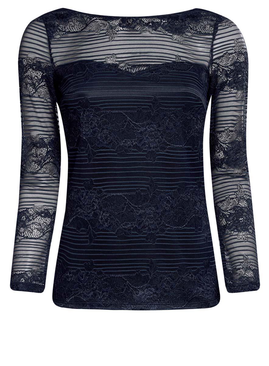 Блузка14211004/46234/2900NСтильная женская блузка oodji Ultra выполнена из полиамида с добавлением полиуретана. Модель с круглым вырезом горловины и длинными рукавами оформлена оригинальным принтом.