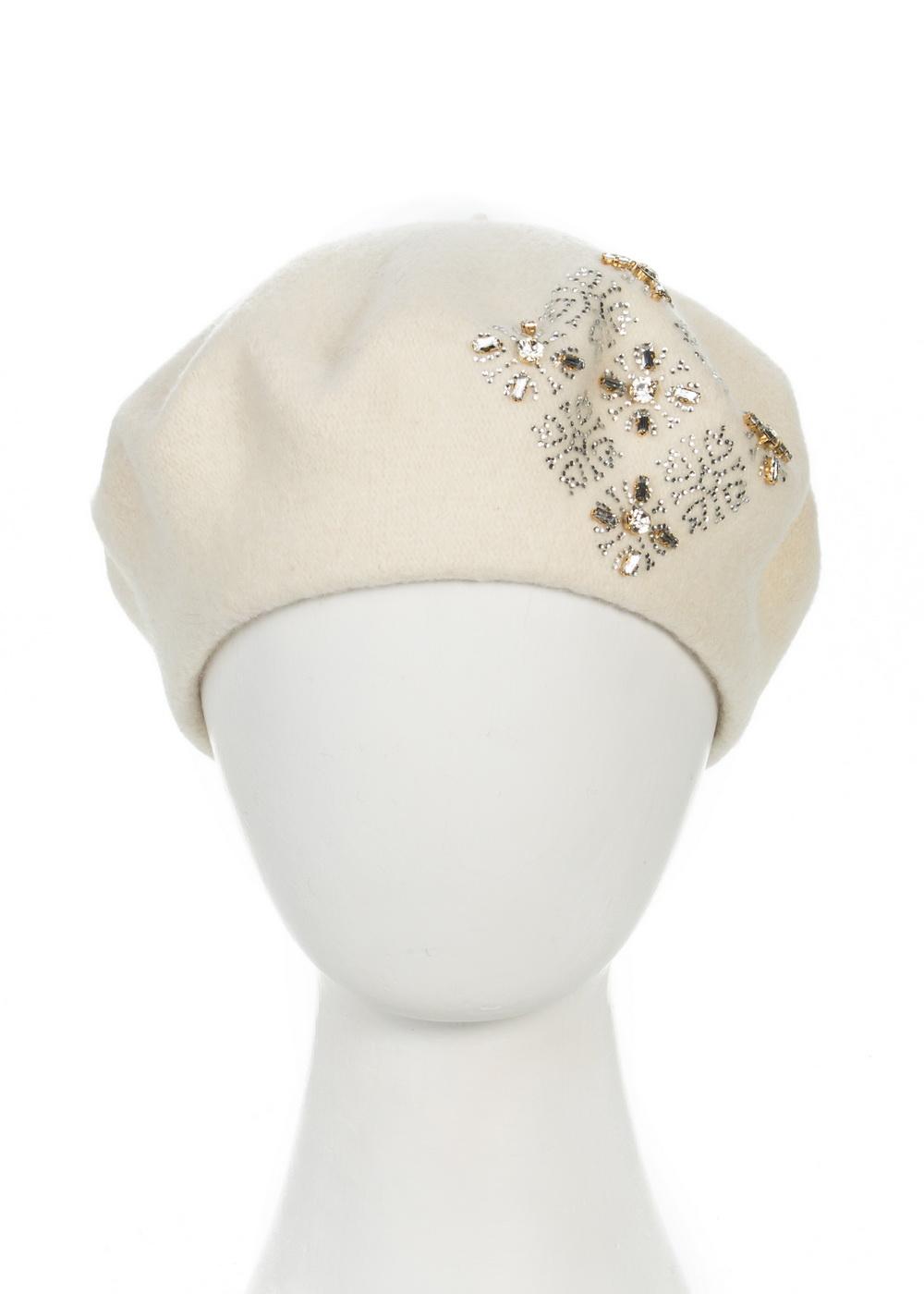 999048Теплый берет Avanta Illeria, выполненный из натуральной шерсти, отлично дополнит ваш образ в холодную погоду. Модель оформлена оригинальным узором выложенным из страз и камней. Такой берет, составит идеальный комплект с модной верхней одеждой, в нем вам будет уютно и тепло! Уважаемые клиенты! Размер, доступный для заказа, является обхватом головы.