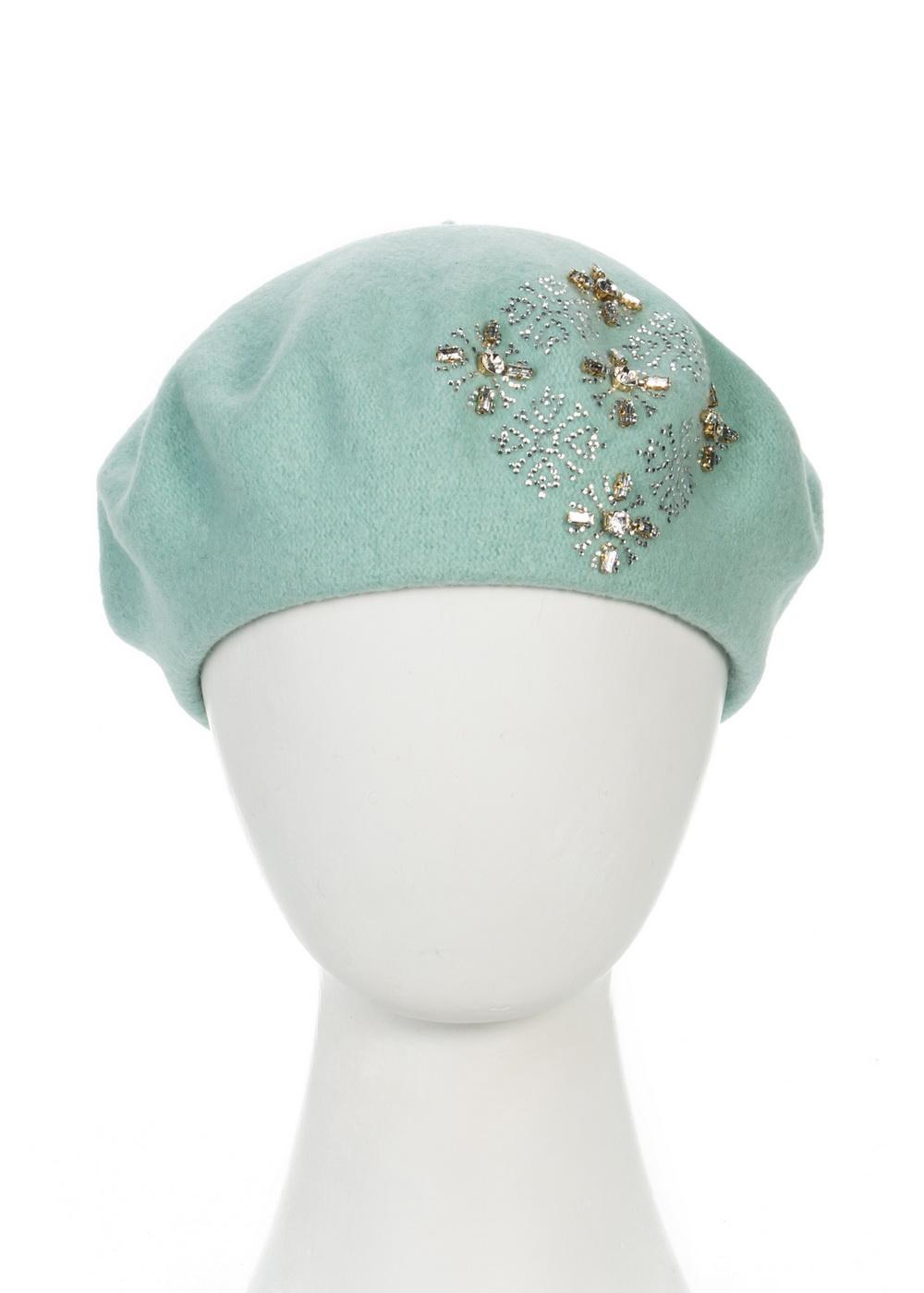 Берет999048Теплый берет Avanta Illeria, выполненный из натуральной шерсти, отлично дополнит ваш образ в холодную погоду. Модель оформлена оригинальным узором выложенным из страз и камней. Такой берет, составит идеальный комплект с модной верхней одеждой, в нем вам будет уютно и тепло! Уважаемые клиенты! Размер, доступный для заказа, является обхватом головы.