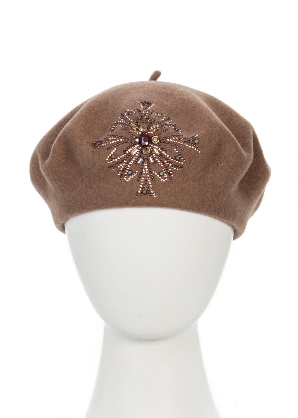 998803Теплый берет Avanta Verginia, выполненный из натуральной шерсти, отлично дополнит ваш образ в холодную погоду. Модель оформлена оригинальным узором выложенным из страз и камней. Такой берет, составит идеальный комплект с модной верхней одеждой, в нем вам будет уютно и тепло! Уважаемые клиенты! Размер, доступный для заказа, является обхватом головы.