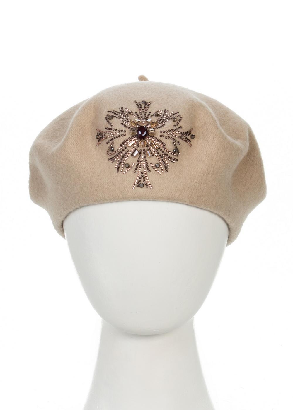Берет998803Теплый берет Avanta Verginia, выполненный из натуральной шерсти, отлично дополнит ваш образ в холодную погоду. Модель оформлена оригинальным узором выложенным из страз и камней. Такой берет, составит идеальный комплект с модной верхней одеждой, в нем вам будет уютно и тепло! Уважаемые клиенты! Размер, доступный для заказа, является обхватом головы.