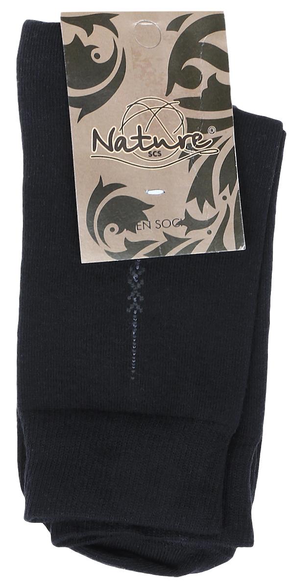 Носки506Мужские носки Nature изготовлены из высококачественного эластичного хлопка с добавлением полиамида и эластана. Носки с классическим паголенком дополнены эластичной резинкой, которая надежно фиксирует носки на ноге.