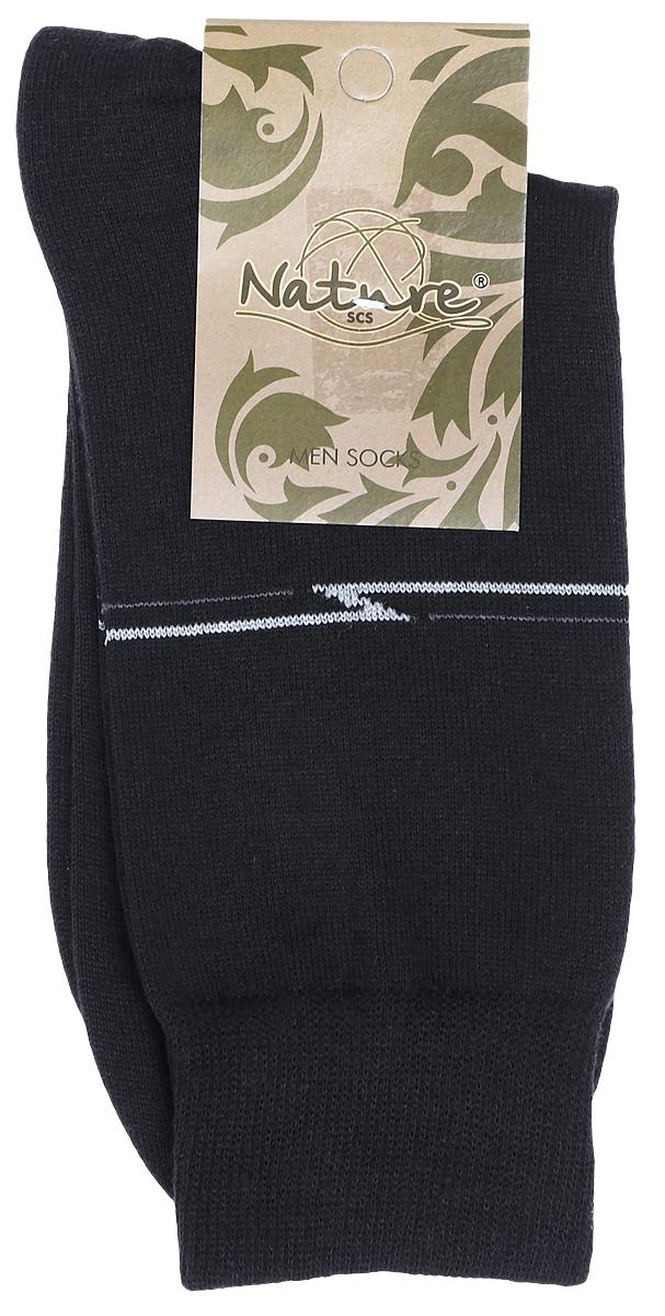 Носки502Мужские носки Nature изготовлены из высококачественного эластичного хлопка с добавлением полиамида и эластана. Носки с классическим паголенком дополнены эластичной резинкой, которая надежно фиксирует носки на ноге.