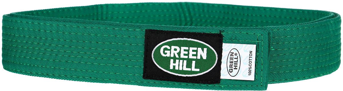 Пояс для единоборствKBB-1015Пояс для кикбоксинга Green Hill 7-Contact выполнен из плотного хлопкового материала с многорядной прострочкой. Модель дополнена текстильной нашивкой с названием бренда.
