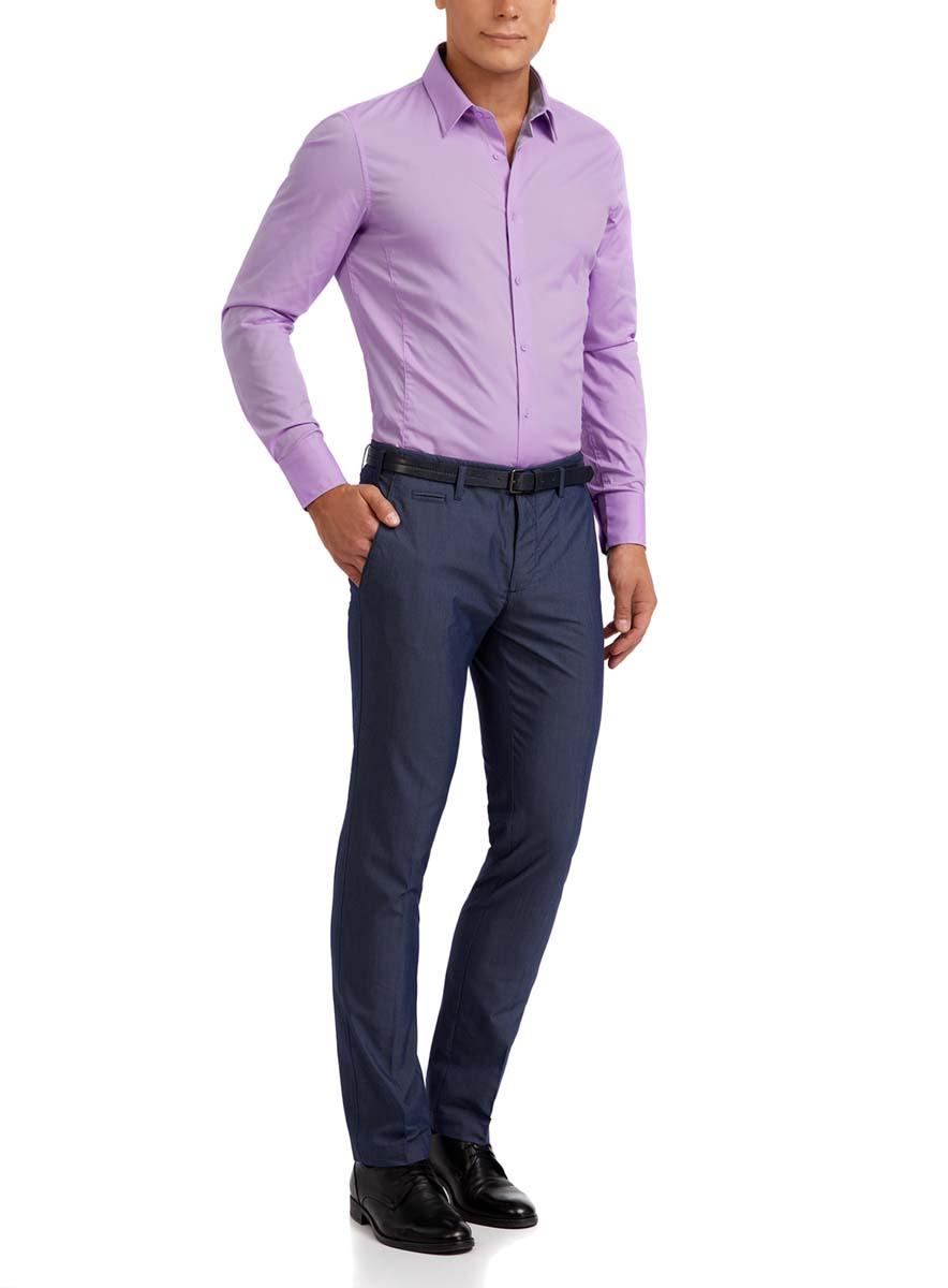 3B140000M/34146N/1000NМужская рубашка oodji Basic выполнена из эластичного хлопка с добавлением полиамида. Рубашка кроя extra slim с длинными рукавами и отложным воротником застегивается на пуговицы спереди. Манжеты рукавов также застегиваются на пуговицы.