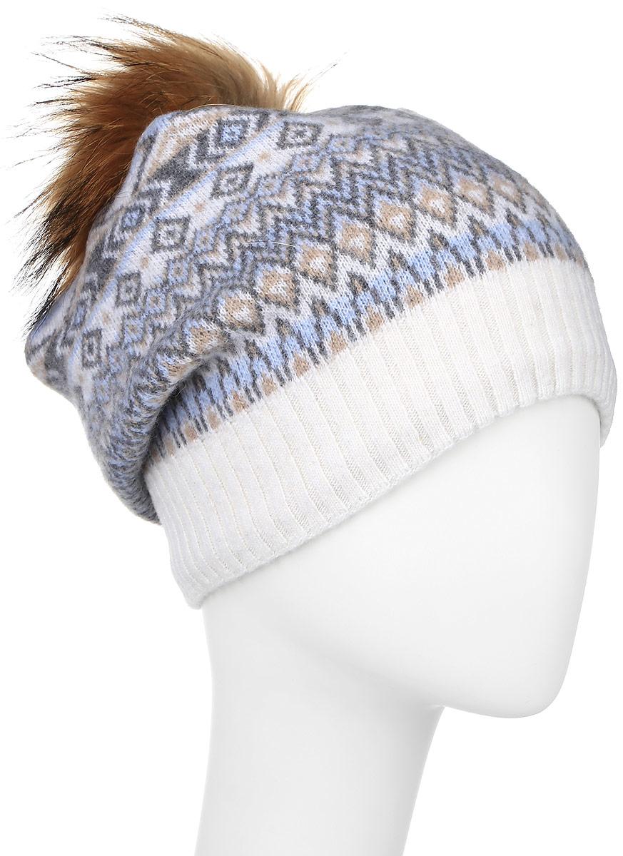 ШапкаW16-32124_205Женская шапка Finn Flare выполнена из шерсти с добавлением нейлона. Модель украшена небольшой металлической пластиной с названием бренда и помпоном на макушке. Уважаемые клиенты! Размер, доступный для заказа, является обхватом головы.