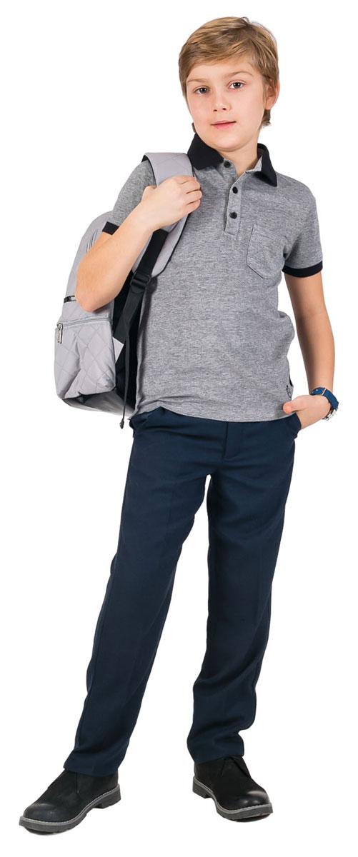 Поло21501BSC1402Стильная футболка-поло для мальчика Gulliver идеально подойдет вашему маленькому моднику. Изготовленная из эластичного хлопка высокого качества, она необычайно нежная и приятная на ощупь, не сковывает движения малыша и позволяет коже дышать, не раздражает даже самую чувствительную кожу ребенка, обеспечивая наибольший комфорт. Футболка-поло с короткими рукавами и отложным воротником имеет классическую строгую расцветку, благодаря чему ее можно сочетать с любыми нарядами. Модель застегивается на три пуговицы на груди, рукава дополнены узкими эластичными манжетами. На груди расположен небольшой открытый кармашек. Оригинальный современный дизайн и высококачественное полотно делают эту футболку модным и стильным предметом детского гардероба. В ней ваш малыш будет чувствовать себя уютно и комфортно и всегда будет в центре внимания!