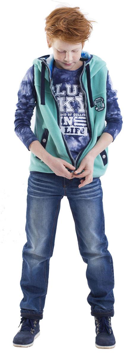 Футболка с длинным рукавом21608BKC1201Детские футболки - основа повседневного гардероба! Удобная и красивая, стильная футболка с модным неравномерным крашением способна добавить образу изюминку, а также подарить комфорт и свободу движений. Если вы хотите приобрести модную и удобную вещь на каждый день, вам стоит купить футболку с длинным рукавом! Крупный принт добавляет модели изюминку. Мягкий хлопок с эластаном обеспечивает прекрасный внешний вид и комфорт в повседневной носке.