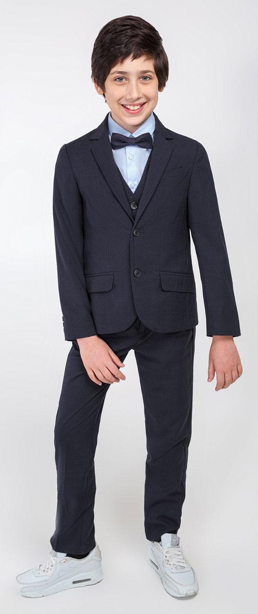 Пиджак20110130049_600Стильный пиджак для мальчика Acoola Ediso станет отличным дополнением к школьному гардеробу в прохладные дни. Изготовлен из высококачественного материала. Пиджак с воротничком с лацканами застегивается на пластиковые пуговички. Низ рукавов дополнен декоративными пуговицами. Спереди пиджак оформлен двумя прорезными карманами с клапанами в нижней части и небольшим прорезным кармашком на груди. В таком пиджачке ваш маленький мужчина будет чувствовать себя комфортно, уютно и всегда будет в центре внимания!
