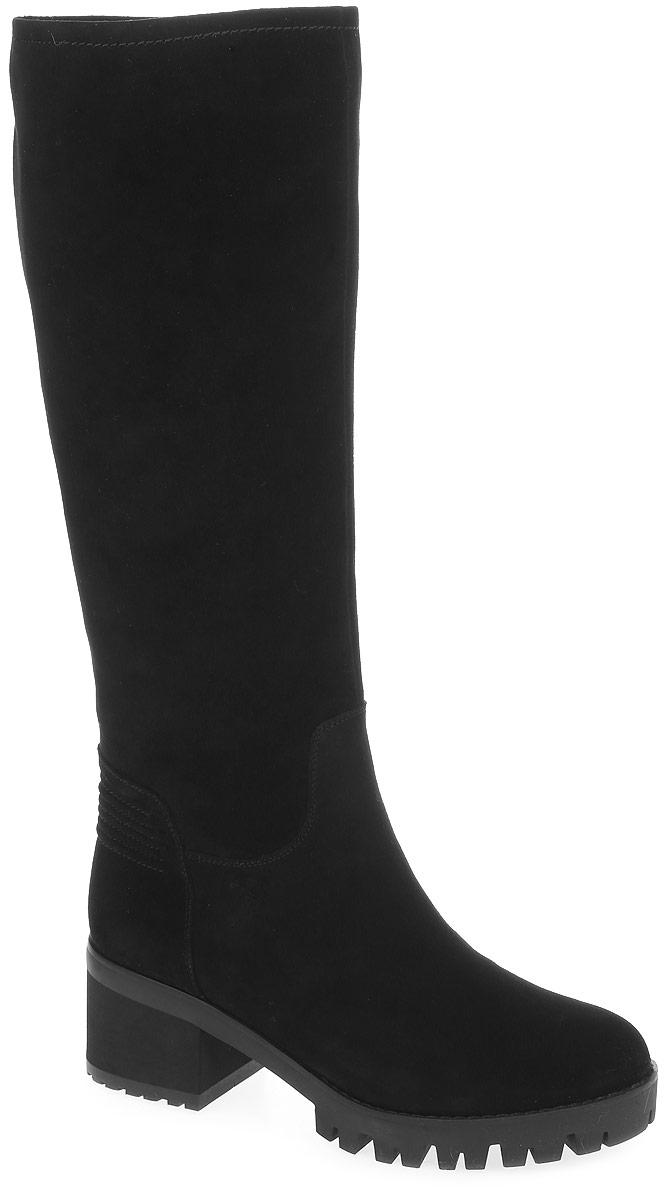REN8-17BT-1/1вЭлегантные сапоги от Westfalika займут достойное место в вашем гардеробе. Модель выполнена из натурального велюра. Внутренний материал верха - ворсин, низ и стелька из натурального меха защитят ноги от холода и обеспечат комфорт. Сапоги застегивается снизу на застежку-молнию, расположенную сбоку. Подошва и устойчивый каблук из термопластичной резины с рельефным протектором обеспечивает отличное сцепление на любой поверхности.