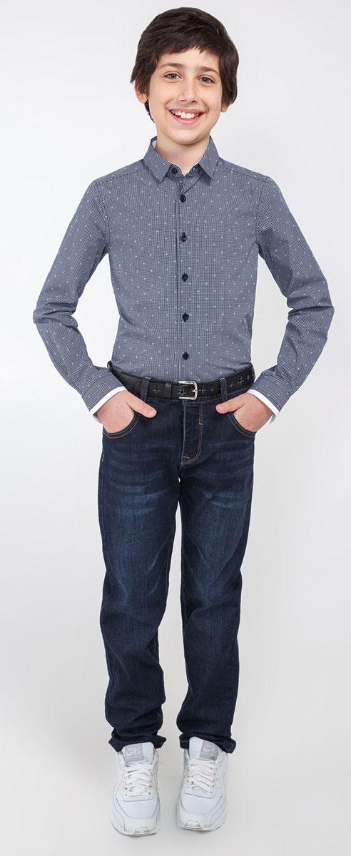 20110280017_600Рубашка Acoola Lyell для мальчика выполнена из высококачественного материала. Модель классического кроя с длинными рукавами и отложным воротником застегивается на пуговицы по всей длине. На манжетах предусмотрены застежки-пуговицы.