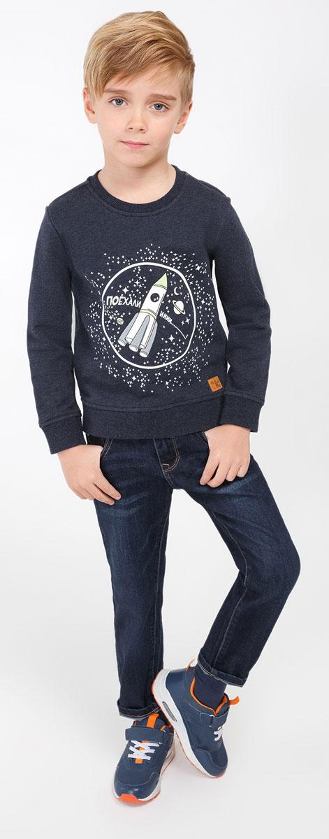 Джинсы20120160055_600Удобные джинсы для мальчика Acoola Flettner идеально подойдут вашему маленькому моднику. Изготовлены из высококачественного материала. Джинсы застегиваются на крючок в поясе, также имеются шлевки для ремня и ширинка на застежке-молнии. Объем пояса регулируется при помощи эластичной резинки с пуговицами изнутри. Спереди модель дополнена двумя втачными карманами и накладным кармашком, а сзади - двумя накладными карманами. Практичные и стильные джинсы идеально подойдут маленькому непоседе!