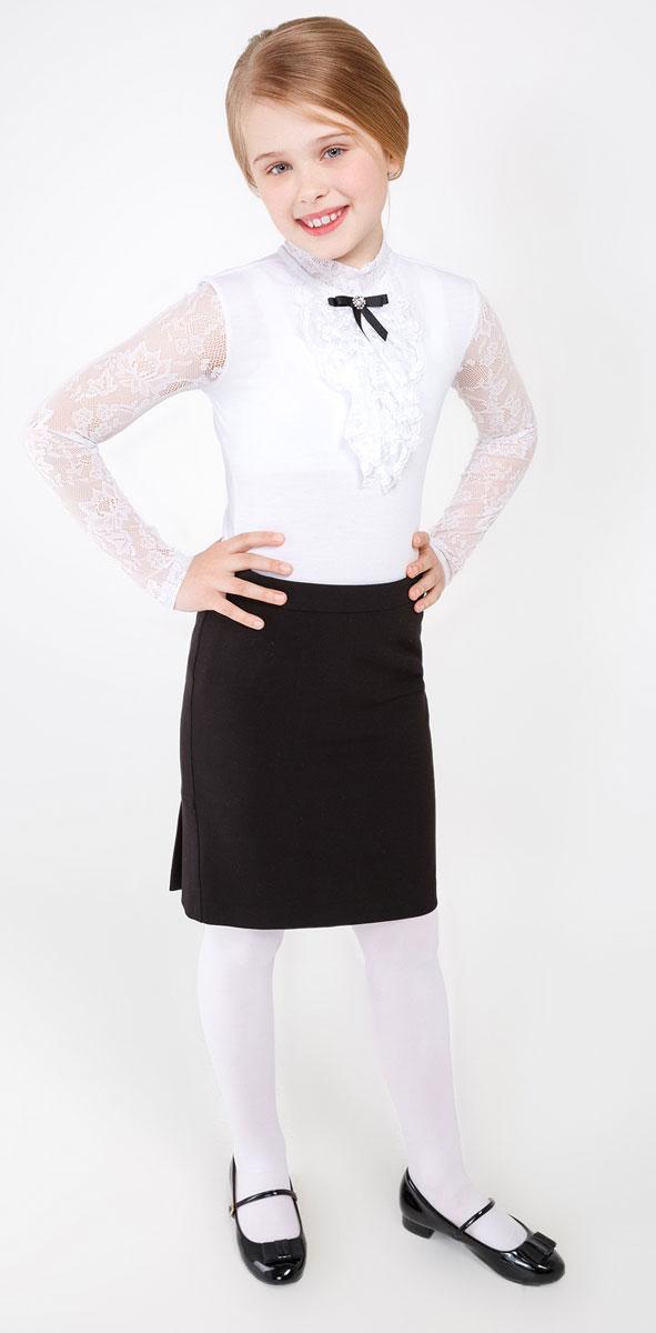Юбка20210180021_100Стильная юбка для девочки Acoola Lorentz идеально подойдет вашей маленькой принцессе. Изготовлена из высококачественного материала. Юбка прямого кроя сбоку застегивается на потайную застежку-молнию. Модель сзади оформлена складочками.