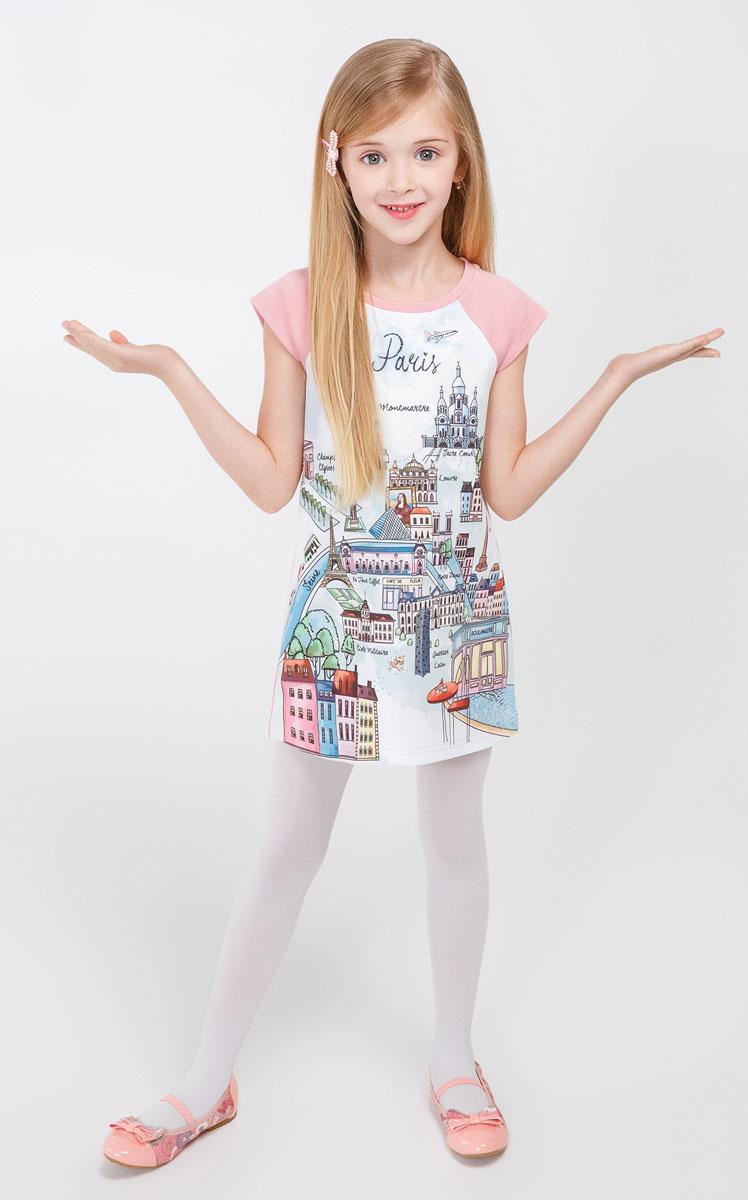 Платье20220200094_8000Симпатичное платье Acoola Yory выполнено из высококачественного материала и оформлено оригинальным принтом. Модель с круглым вырезом горловины и короткими рукавами-реглан.