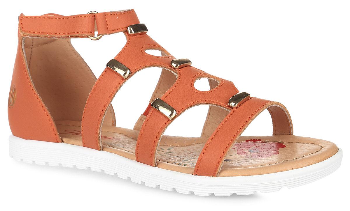 61-CS142Модные сандалии от Flamingo приведут в восторг вашу девочку. Модель, выполненная из искусственной кожи, оформлена металлическими элементами, сбоку - тисненым логотипом бренда. Ремешок с застежкой-липучкой и высокий задник обеспечивают надежную фиксацию модели на ноге. Внутренняя поверхность и стелька из натуральной кожи комфортны при ходьбе. Стелька дополнена супинатором, который обеспечивает правильное положение стопы ребенка при ходьбе и предотвращает плоскостопие. Подошва с рифлением гарантирует отличное сцепление с любой поверхностью. Стильные сандалии - незаменимая вещь в гардеробе каждой девочки!