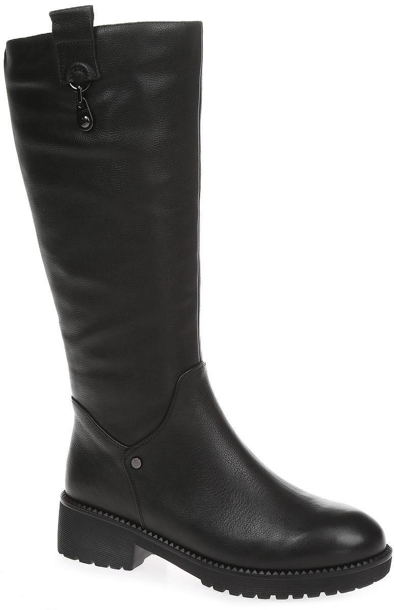 REN7-17BTY-8/1Элегантные сапоги от Westfalika займут достойное место в вашем гардеробе. Модель выполнена из натуральной кожи. Внутренний материал верха - ворсин, низ и стелька из натурального меха защитят ноги от холода и обеспечат комфорт. Сапоги застегивается на застежку-молнию, расположенную сбоку. Подошва и устойчивый каблук из резины с рельефным протектором обеспечивает отличное сцепление на любой поверхности.
