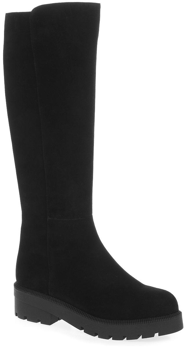 REN7-17BBS-1/1вЭлегантные сапоги от Westfalika займут достойное место в вашем гардеробе. Модель выполнена из натурального велюра. Внутренний материал верха - ворсин, низ и стелька из натурального меха защитят ноги от холода и обеспечат комфорт. Сапоги застегивается на застежку-молнию, расположенную сбоку. Подошва и устойчивый каблук из термопластичной резины с рельефным протектором обеспечивает отличное сцепление на любой поверхности.