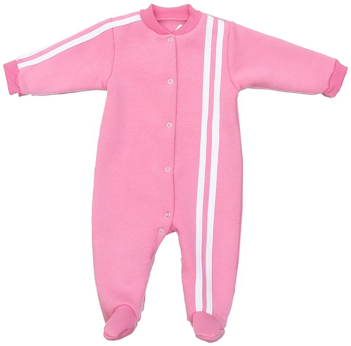Комбинезон утепленный5101-20Детский комбинезон M&D - очень удобный и практичный вид одежды для малышей. Комбинезон выполнен из хлопка с добавлением полиэстера, благодаря чему он необычайно мягкий и приятный на ощупь, не раздражает нежную кожу ребенка и хорошо вентилируется. Комбинезон с длинными рукавами и закрытыми ножками застегивается на застежки-кнопки от горловины до щиколотки, что помогает легко переодеть малыша или сменить подгузник. Оформлена модель контрастными полосками. Воротник и манжеты рукавов дополнены трикотажными резинками. С внутренней стороны модель имеет мягкий начес.