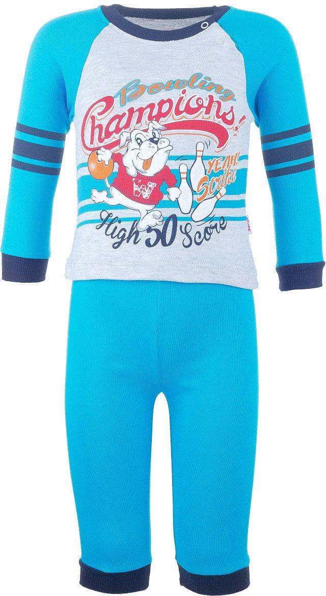 Комплект одежды6865-28Комплект одежды для мальчика Sally, состоящий из футболки с длинный рукавом и штанишек, станет отличным дополнением к детскому гардеробу. Комплект изготовлен из натурального хлопка, тактильно приятный, не раздражает нежную кожу ребенка и хорошо вентилируется, обеспечивая комфорт. Футболка с круглым вырезом горловины и длинными рукавами-реглан застегивается на кнопки по плечевому шву, что позволит легко переодеть малыша. Вырез горловины и манжеты рукавов дополнены трикотажной резинкой. Штанишки имеют на поясе мягкую эластичную резинку, благодаря чему они не сдавливают животик ребенка и не сползают. На брючинах предусмотрены манжеты. Оформлено изделие оригинальным принтом.