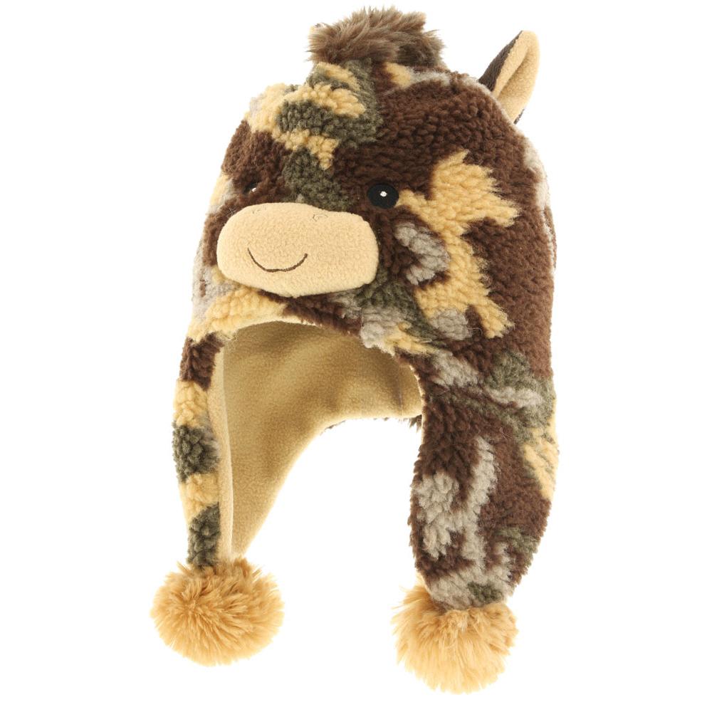 ШапкаICE 8230Теплая шапка R.Mountain выполнена из ворсистого мягкого акрила. Модель оформлена оригинальным принтом и нашивками в виде мордочки жирафа. Удлиненные ушки оформлены пушистыми помпонами. Подкладка выполнена из мягкого плюша, который хорошо удерживает тепло.