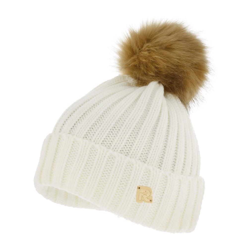 ICE 8518Теплая вязаная шапка R.Mountain полностью выполнена из акрила, приятного на ощупь. Модель с подворотом нашивкой в виде логотипа бренда. Шапка дополнена крупным пушистым помпоном из искусственного меха.